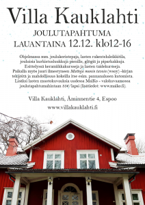 Villa Kauklahden joulutapahtuma 12.12.