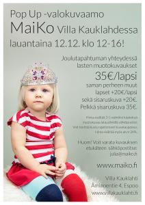 Pop Up Valokuvaamo Kauklahdessa 12.12.2015